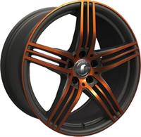 DESIGN 0217 BLACK - GLOSSY ORANGE POLISHED
